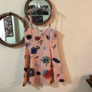 Zara Tra Faluc floral mini dress